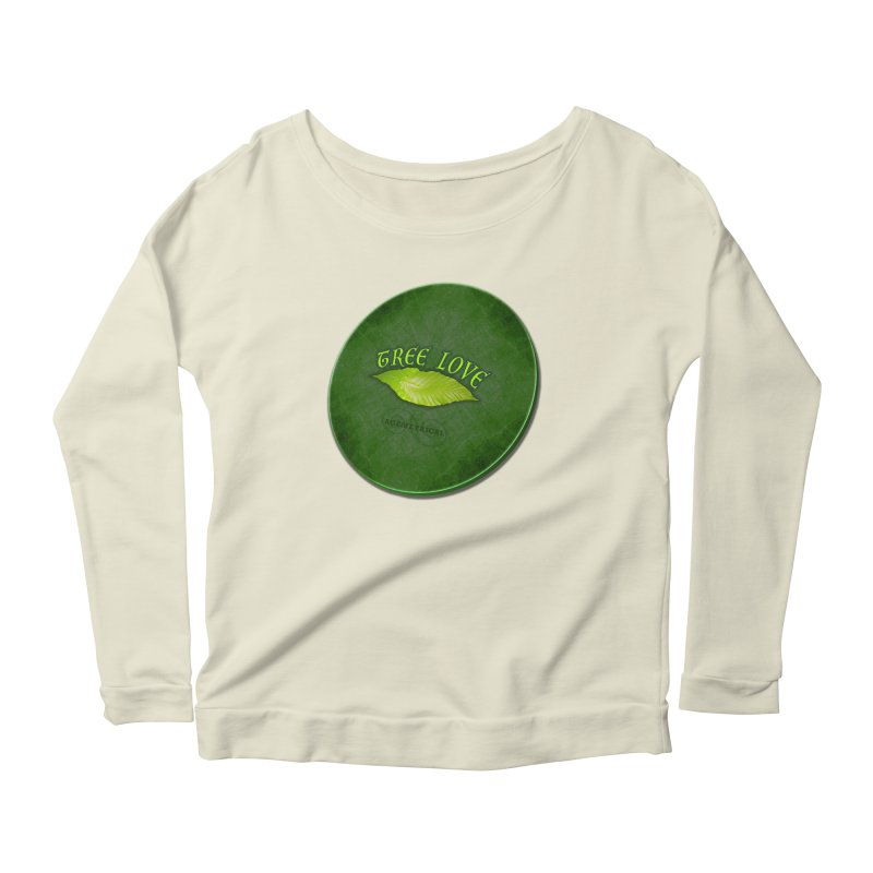 Tree Love ( / ) Green Leaf Lips Women's Scoop Neck Longsleeve T-Shirt by ACEMETRICAL ( / ) Disc Golf