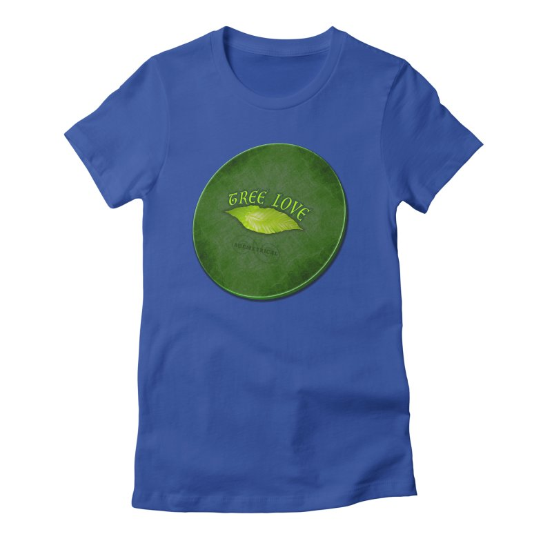 Tree Love ( / ) Green Leaf Lips Women's Fitted T-Shirt by ACEMETRICAL ( / ) Disc Golf