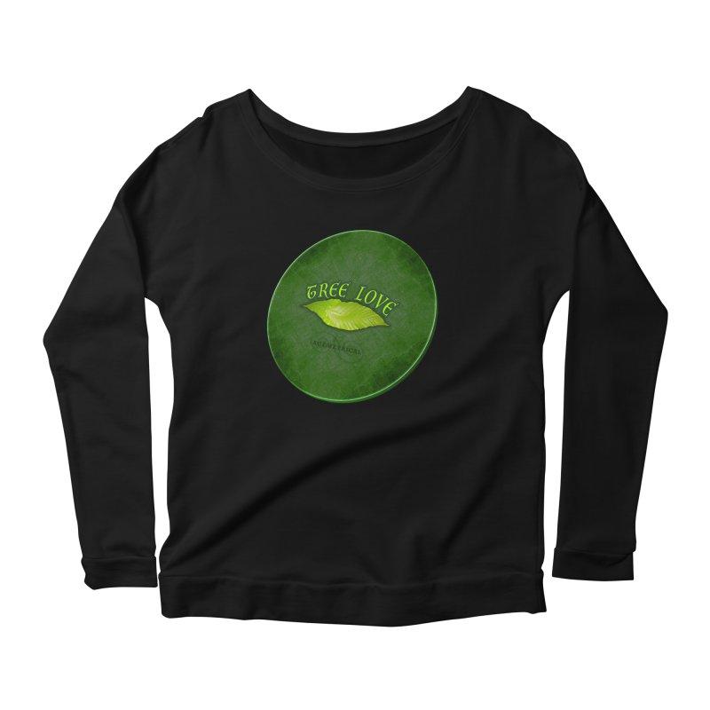 Tree Love ( / ) Green Leaf Lips Women's Scoop Neck Longsleeve T-Shirt by ACEMETRICAL ( / ) Disc Golf