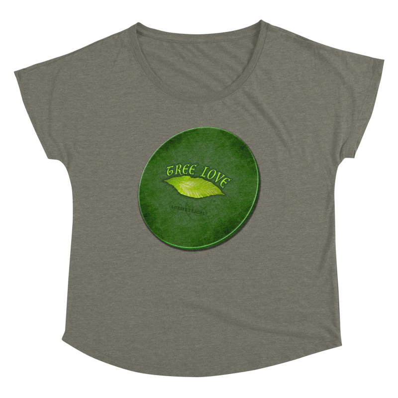 Tree Love ( / ) Green Leaf Lips Women's Scoop Neck by ACEMETRICAL ( / ) Disc Golf