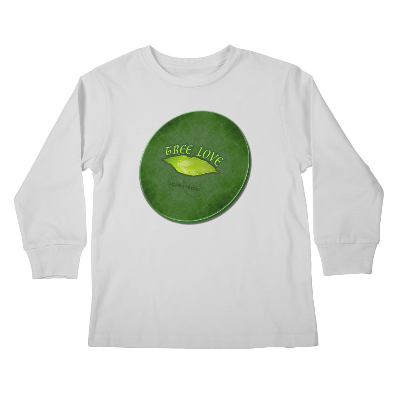 Tree Love ( / ) Green Leaf Lips Kids Longsleeve T-Shirt by ACEMETRICAL ( / ) Disc Golf