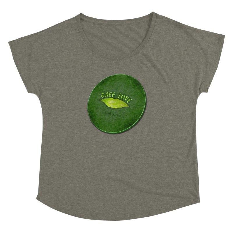 Tree Love ( / ) Green Leaf Lips Women's Scoop Neck by ACEMETRICAL ( / ) Disc Golf