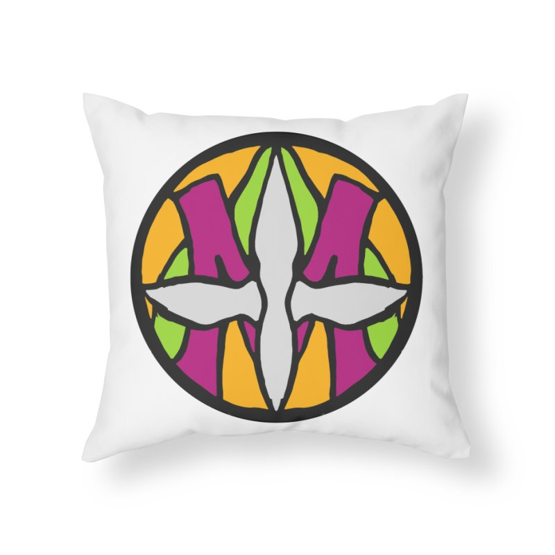 ACEMETRICAL ( / ) CIRCLE LOGO - Morning Star Home Throw Pillow by ACEMETRICAL ( / ) Disc Golf