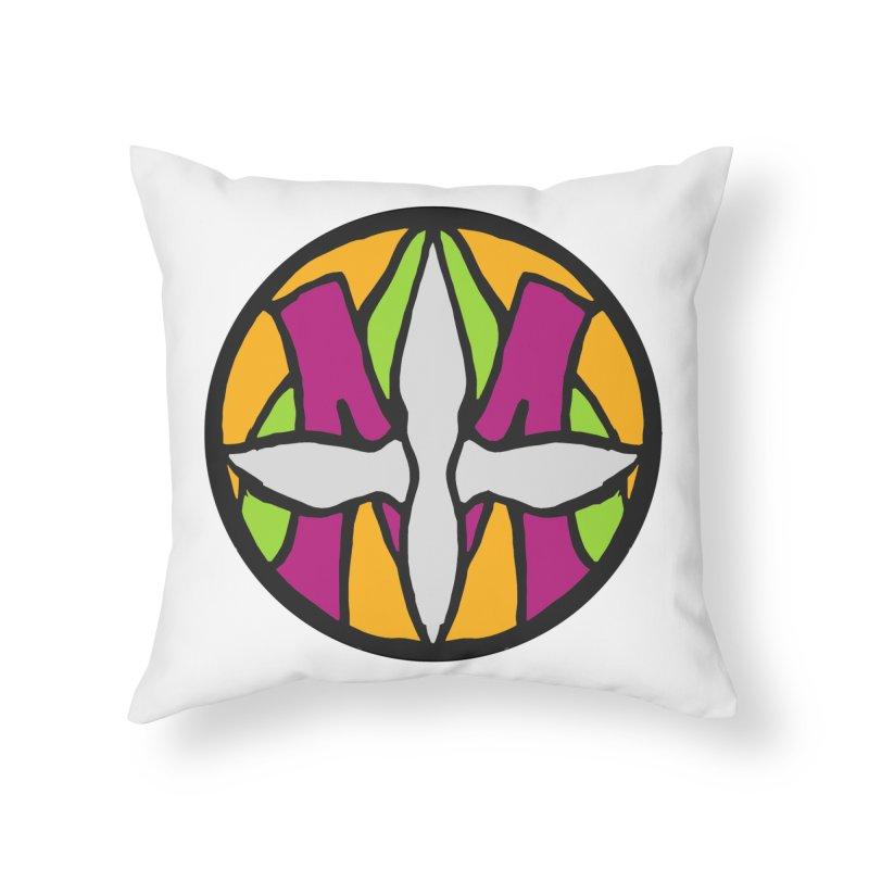 ACEMETRICAL ( / ) CIRCLE LOGO - Morning Star Home Throw Pillow by ACEMETRICAL ( / ) Disc Golf