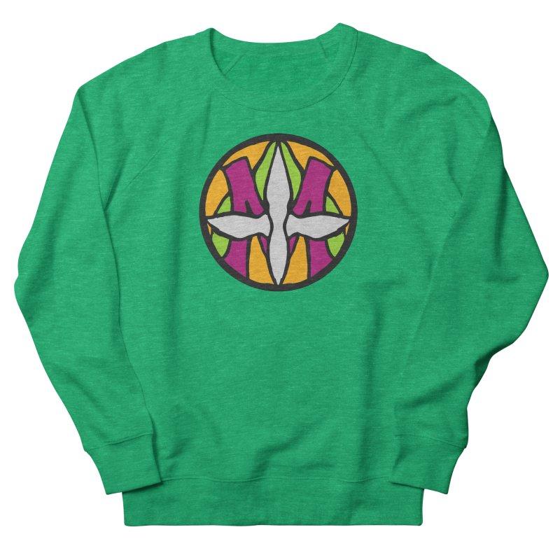 ACEMETRICAL ( / ) CIRCLE LOGO - Morning Star Men's French Terry Sweatshirt by ACEMETRICAL ( / ) Disc Golf