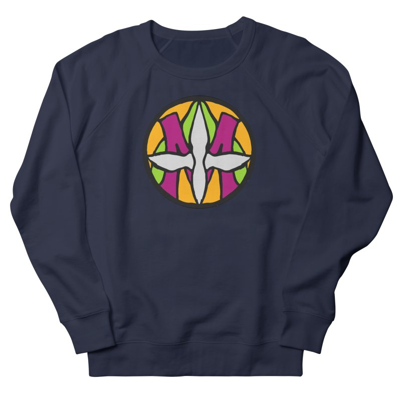 ACEMETRICAL ( / ) CIRCLE LOGO - Morning Star Men's French Terry Sweatshirt by ACEMETRICAL ( / ) Disc Golf