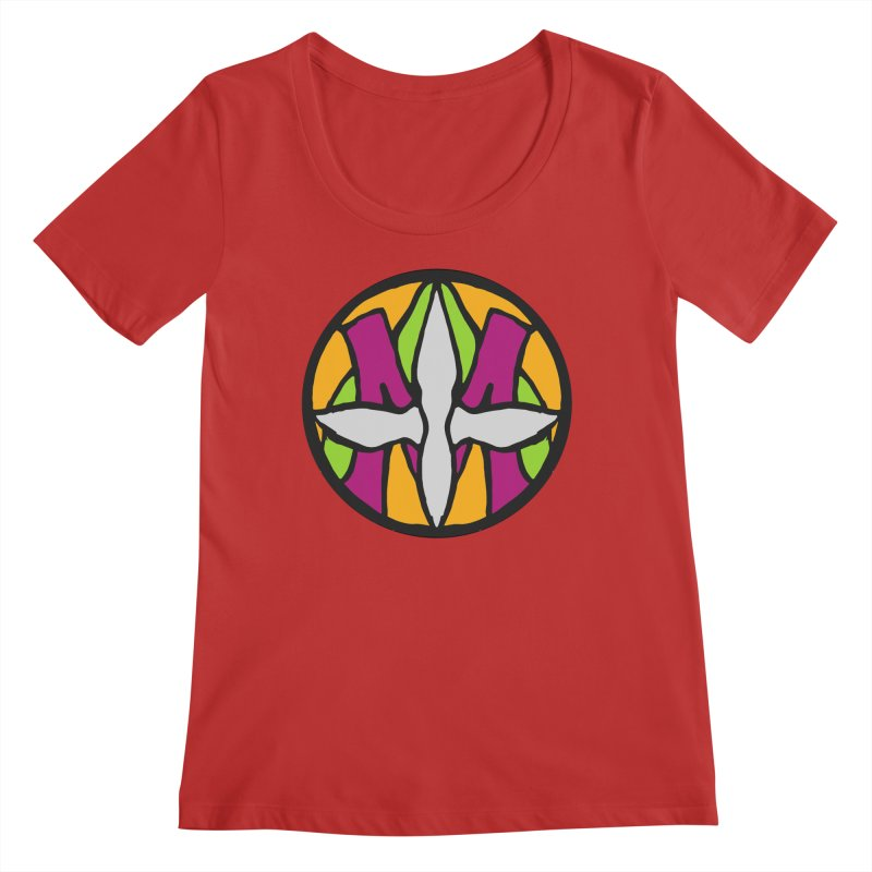 ACEMETRICAL ( / ) CIRCLE LOGO - Morning Star Women's Scoop Neck by ACEMETRICAL ( / ) Disc Golf