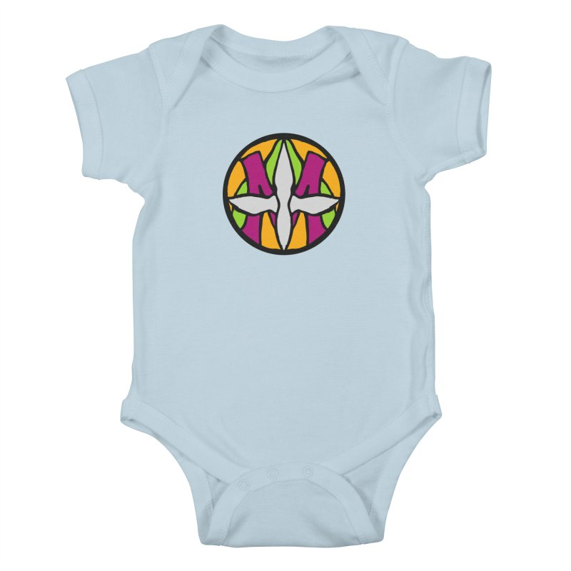 ACEMETRICAL ( / ) CIRCLE LOGO - Morning Star Kids Baby Bodysuit by ACEMETRICAL ( / ) Disc Golf