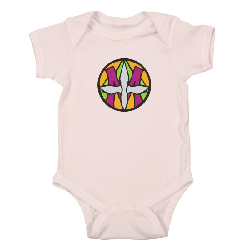 ACEMETRICAL ( / ) CIRCLE LOGO - Morning Star Kids Baby Bodysuit by ACEMETRICAL ( / ) Disc Golf