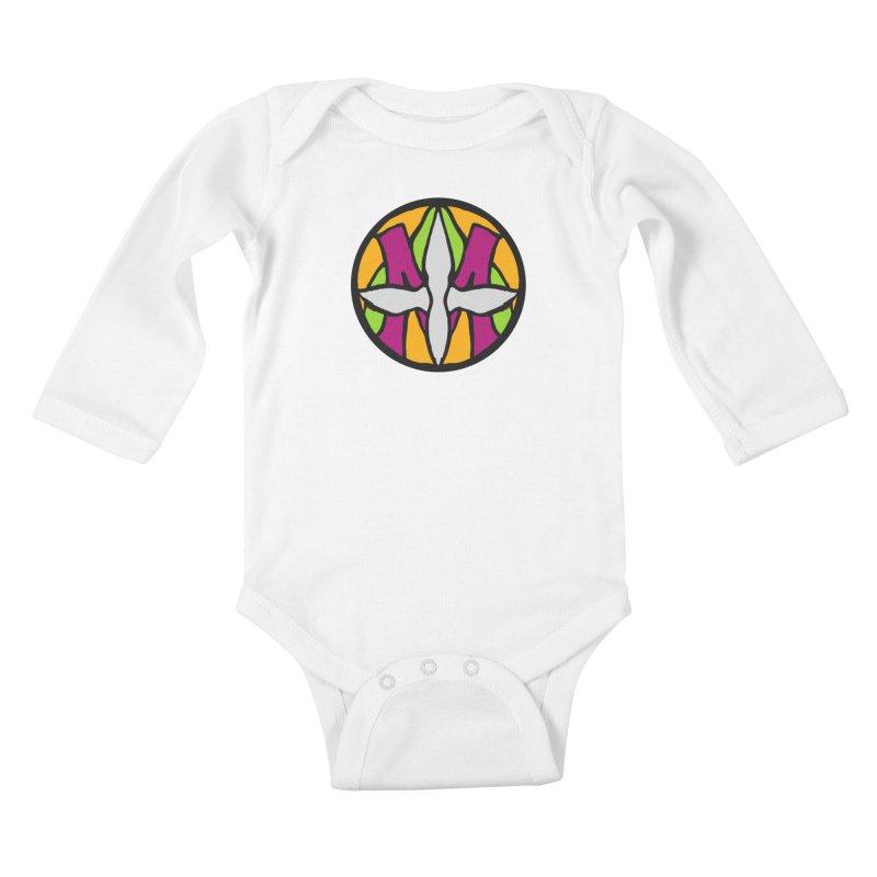 ACEMETRICAL ( / ) CIRCLE LOGO - Morning Star Kids Baby Longsleeve Bodysuit by ACEMETRICAL ( / ) Disc Golf