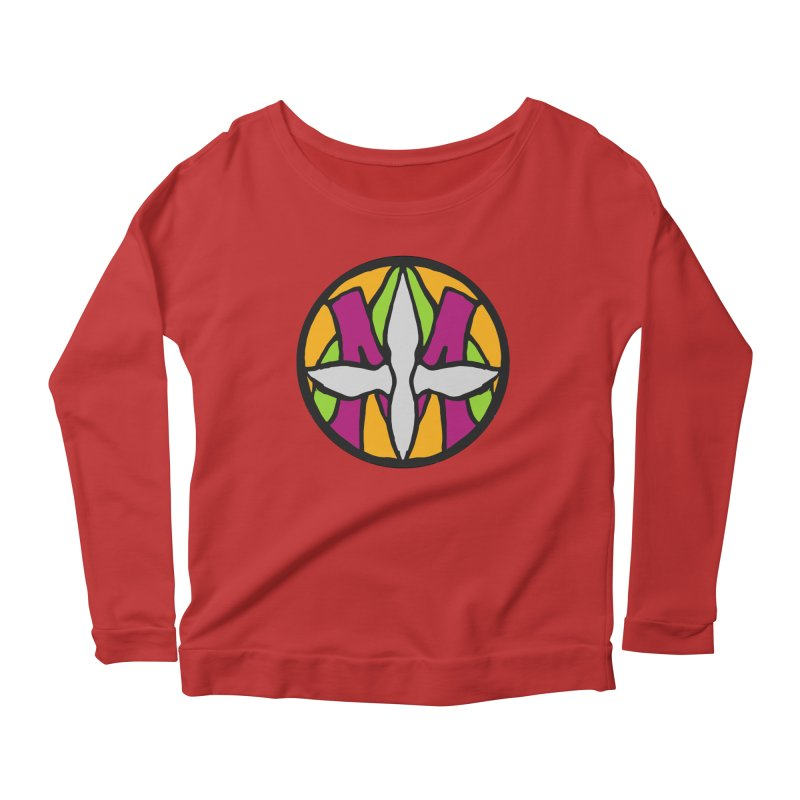 ACEMETRICAL ( / ) CIRCLE LOGO - Morning Star Women's Scoop Neck Longsleeve T-Shirt by ACEMETRICAL ( / ) Disc Golf