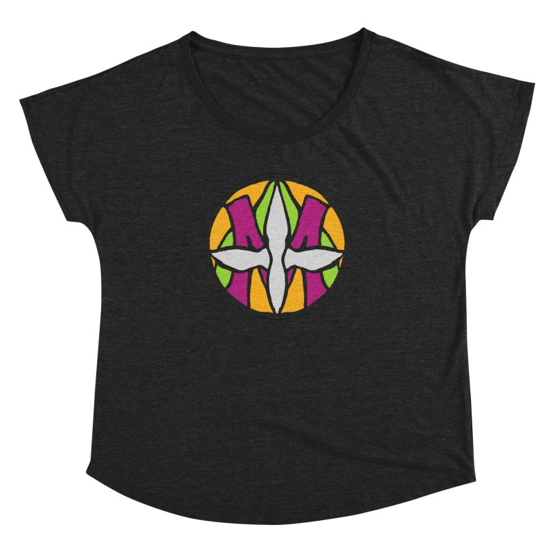 ACEMETRICAL ( / ) CIRCLE LOGO - Morning Star Women's Dolman Scoop Neck by ACEMETRICAL ( / ) Disc Golf
