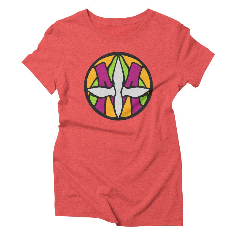 ACEMETRICAL ( / ) CIRCLE LOGO - Morning Star Women's Triblend T-Shirt by ACEMETRICAL ( / ) Disc Golf