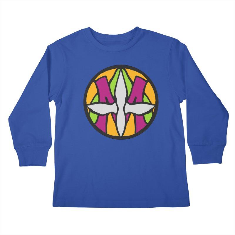 ACEMETRICAL ( / ) CIRCLE LOGO - Morning Star Kids Longsleeve T-Shirt by ACEMETRICAL ( / ) Disc Golf