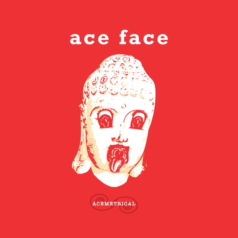 ACE FACE Buddha [REAL RED] ( / ) ACEMETRICAL Men's V-Neck by ACEMETRICAL ( / ) Disc Golf