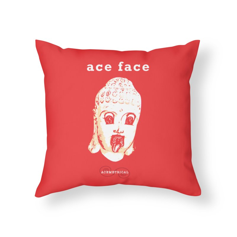 ACE FACE Buddha [REAL RED] ( / ) ACEMETRICAL Home Throw Pillow by ACEMETRICAL ( / ) Disc Golf