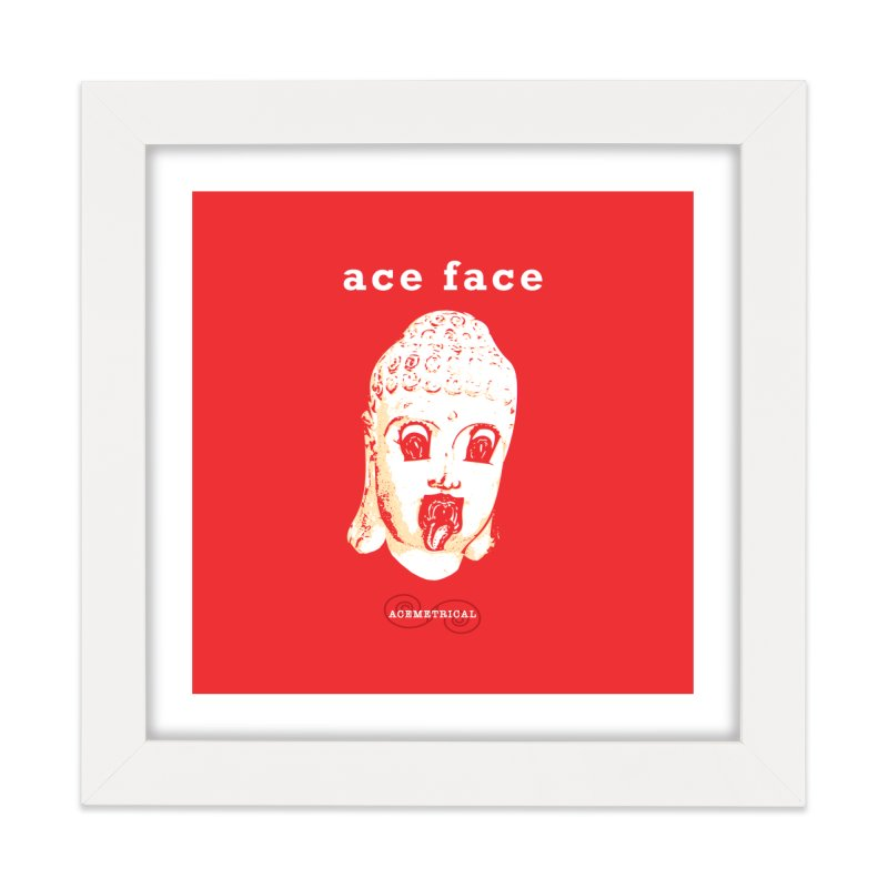 ACE FACE Buddha [REAL RED] ( / ) ACEMETRICAL Home Framed Fine Art Print by ACEMETRICAL ( / ) Disc Golf