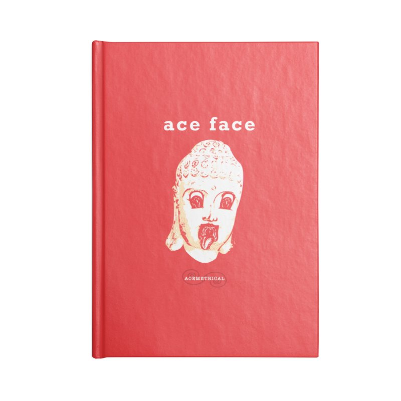 ACE FACE Buddha [REAL RED] ( / ) ACEMETRICAL Accessories Blank Journal Notebook by ACEMETRICAL ( / ) Disc Golf