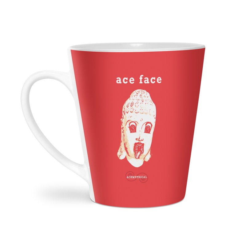 ACE FACE Buddha [REAL RED] ( / ) ACEMETRICAL Accessories Latte Mug by ACEMETRICAL ( / ) Disc Golf