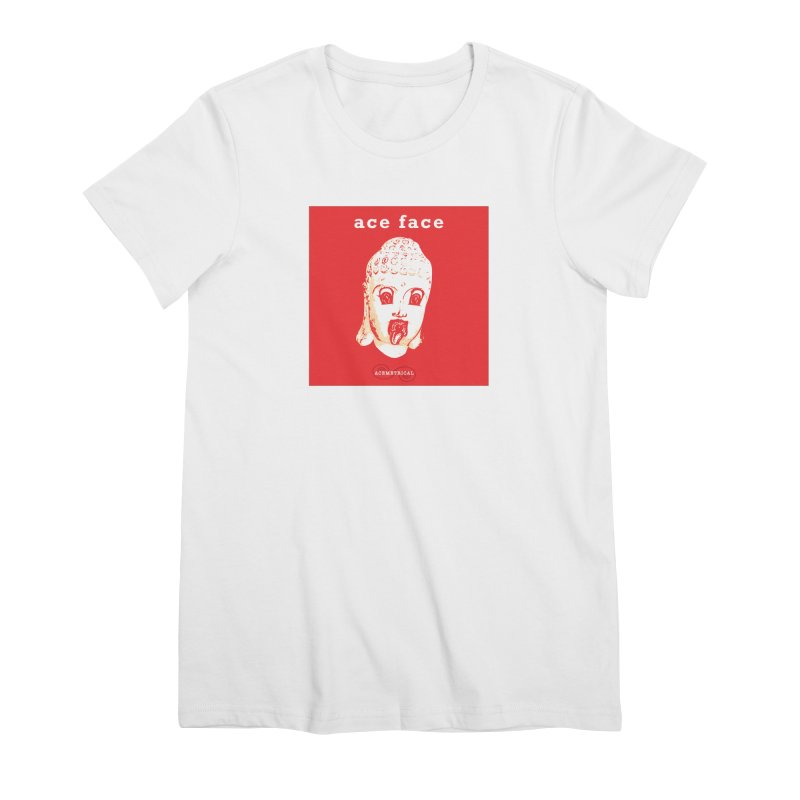 ACE FACE Buddha [REAL RED] ( / ) ACEMETRICAL Women's Premium T-Shirt by ACEMETRICAL ( / ) Disc Golf