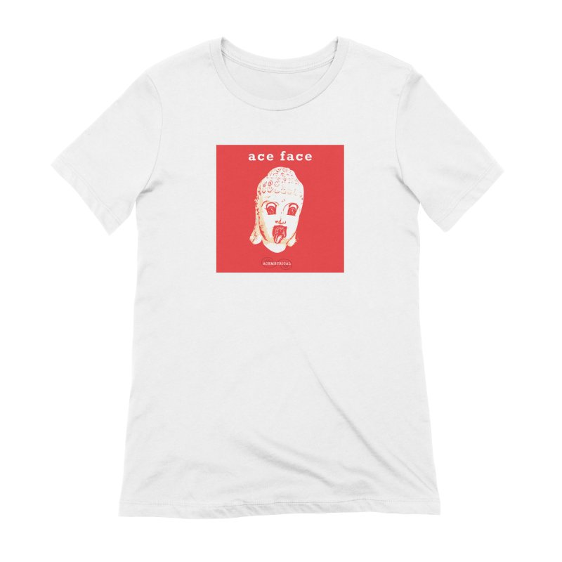 ACE FACE Buddha [REAL RED] ( / ) ACEMETRICAL Women's Extra Soft T-Shirt by ACEMETRICAL ( / ) Disc Golf