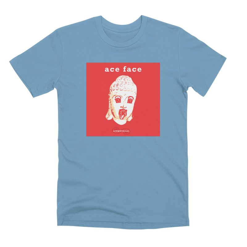 ACE FACE Buddha [REAL RED] ( / ) ACEMETRICAL Men's Premium T-Shirt by ACEMETRICAL ( / ) Disc Golf