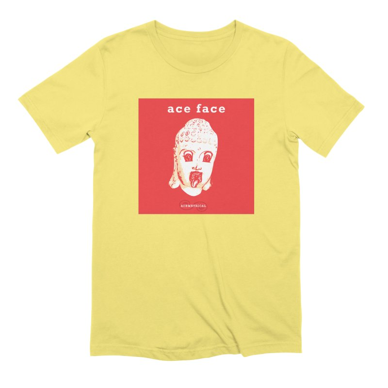 ACE FACE Buddha [REAL RED] ( / ) ACEMETRICAL Men's Extra Soft T-Shirt by ACEMETRICAL ( / ) Disc Golf