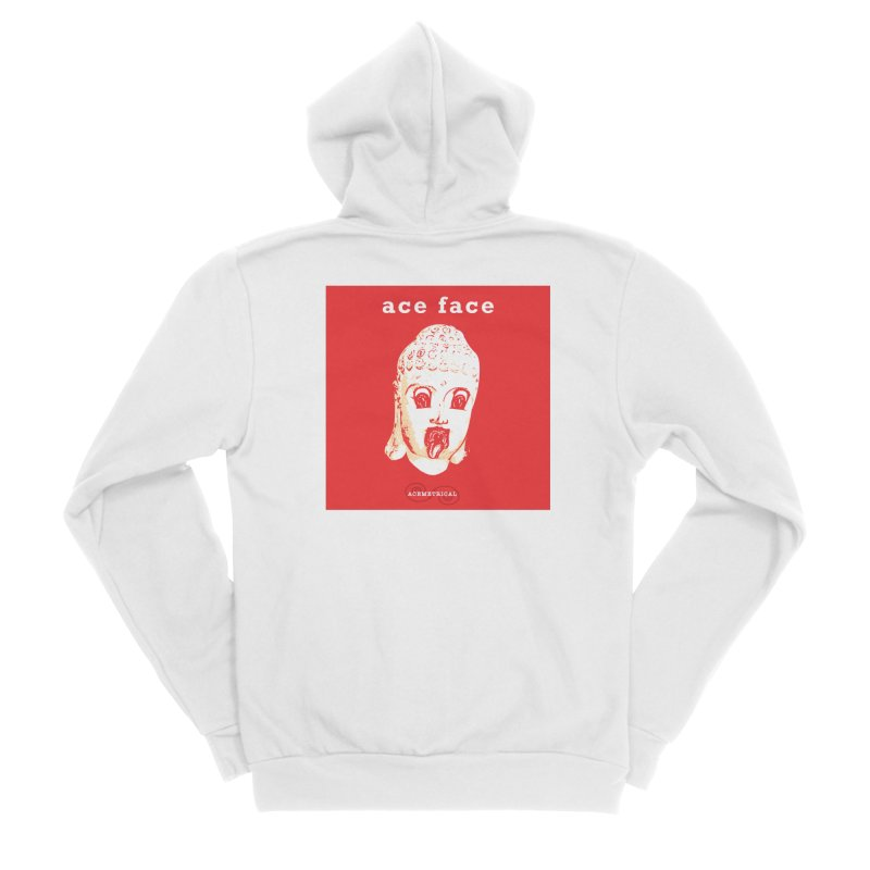 ACE FACE Buddha [REAL RED] ( / ) ACEMETRICAL Women's Sponge Fleece Zip-Up Hoody by ACEMETRICAL ( / ) Disc Golf