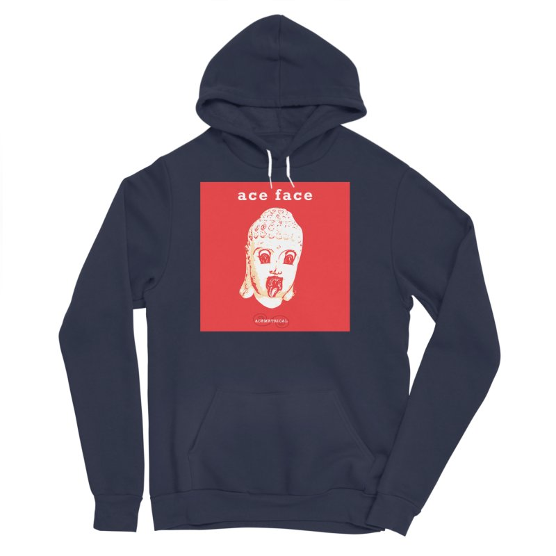 ACE FACE Buddha [REAL RED] ( / ) ACEMETRICAL Men's Sponge Fleece Pullover Hoody by ACEMETRICAL ( / ) Disc Golf