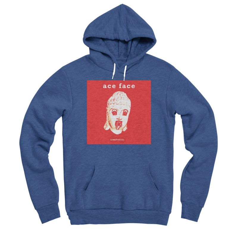 ACE FACE Buddha [REAL RED] ( / ) ACEMETRICAL Women's Sponge Fleece Pullover Hoody by ACEMETRICAL ( / ) Disc Golf