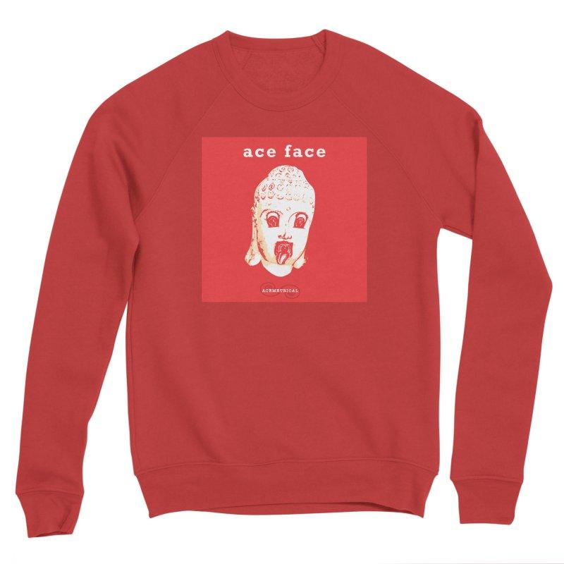 ACE FACE Buddha [REAL RED] ( / ) ACEMETRICAL Men's Sponge Fleece Sweatshirt by ACEMETRICAL ( / ) Disc Golf