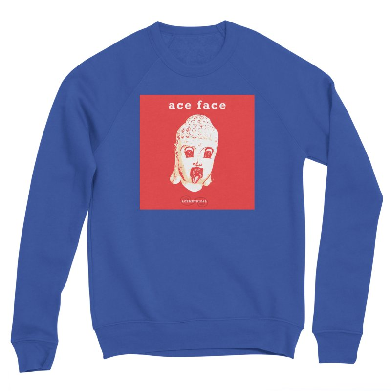 ACE FACE Buddha [REAL RED] ( / ) ACEMETRICAL Women's Sponge Fleece Sweatshirt by ACEMETRICAL ( / ) Disc Golf