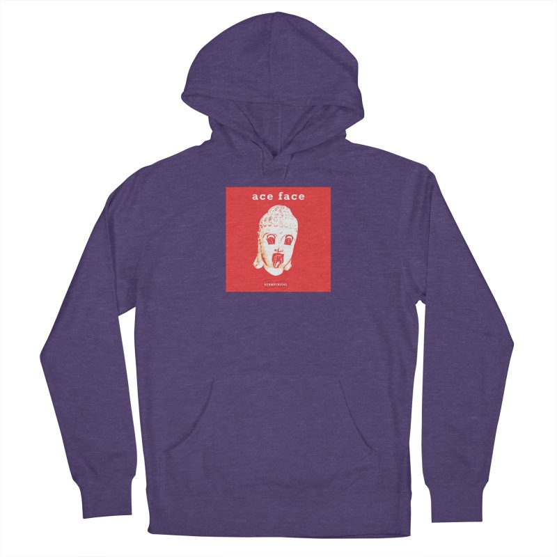 ACE FACE Buddha [REAL RED] ( / ) ACEMETRICAL Women's Pullover Hoody by ACEMETRICAL ( / ) Disc Golf