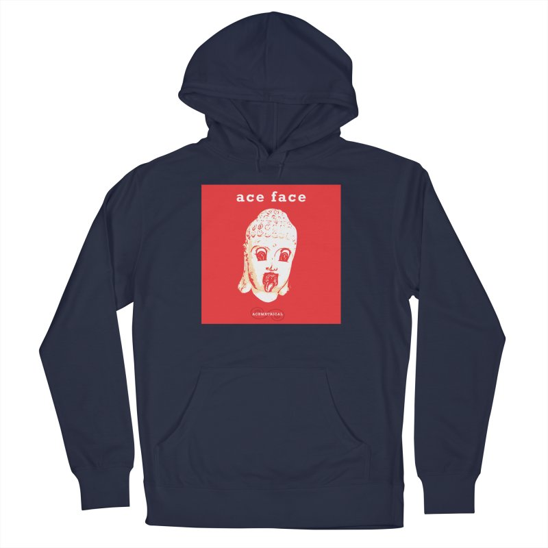 ACE FACE Buddha [REAL RED] ( / ) ACEMETRICAL Women's French Terry Pullover Hoody by ACEMETRICAL ( / ) Disc Golf