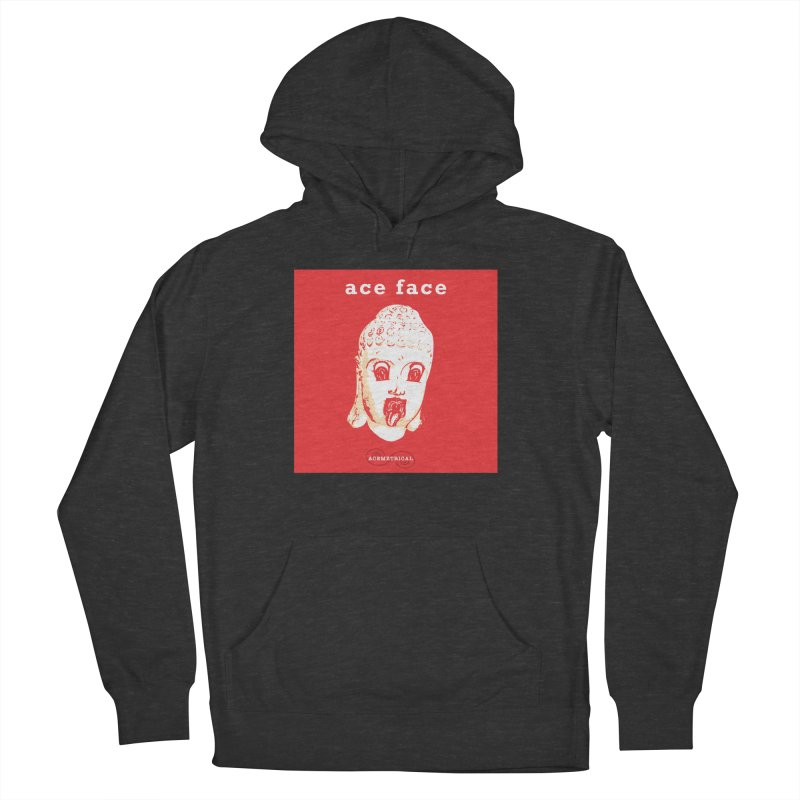 ACE FACE Buddha [REAL RED] ( / ) ACEMETRICAL Men's French Terry Pullover Hoody by ACEMETRICAL ( / ) Disc Golf