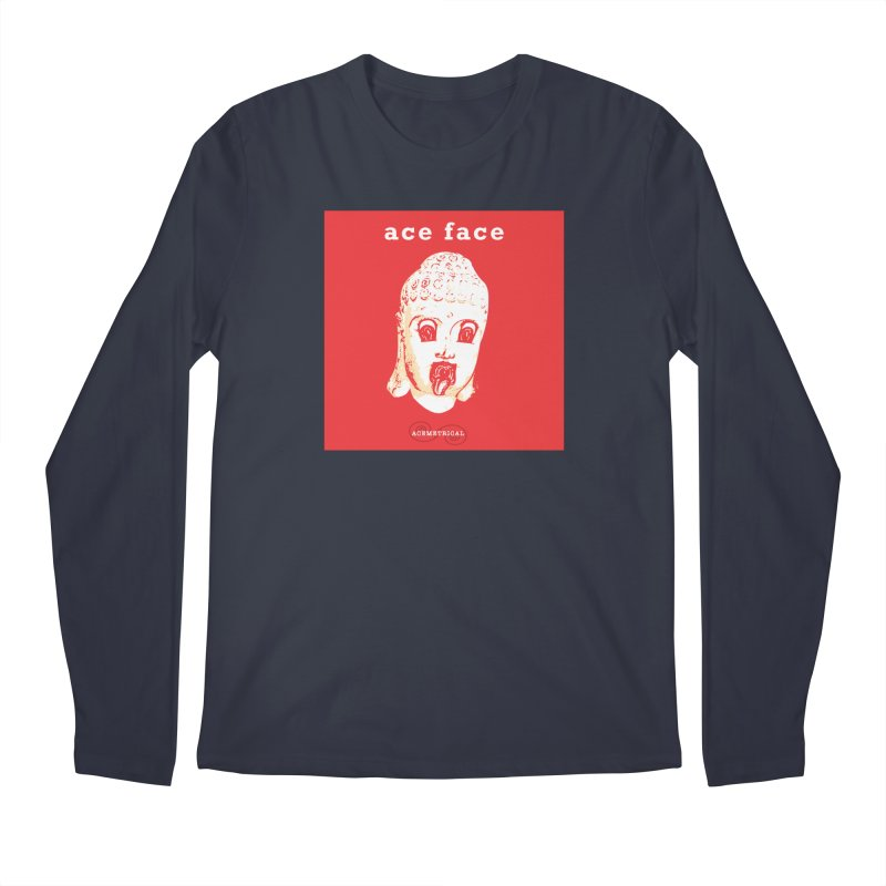 ACE FACE Buddha [REAL RED] ( / ) ACEMETRICAL Men's Regular Longsleeve T-Shirt by ACEMETRICAL ( / ) Disc Golf