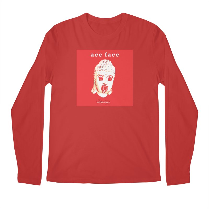 ACE FACE Buddha [REAL RED] ( / ) ACEMETRICAL Men's Longsleeve T-Shirt by ACEMETRICAL ( / ) Disc Golf