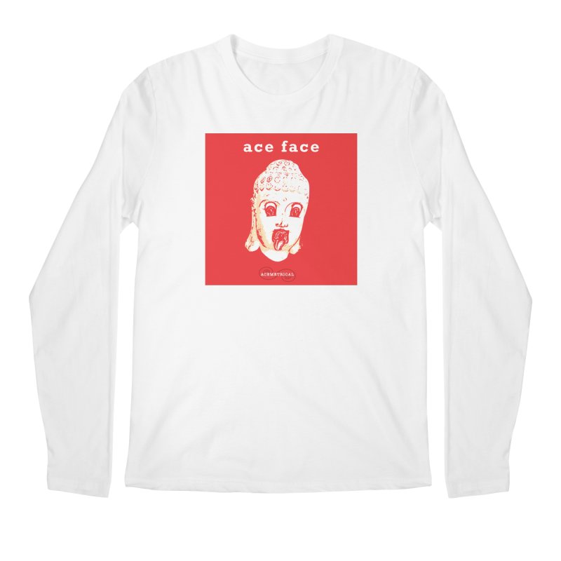 ACE FACE Buddha [REAL RED] ( / ) ACEMETRICAL Men's Regular Longsleeve T-Shirt by ACEMETRICAL ( / ) Disc Golf