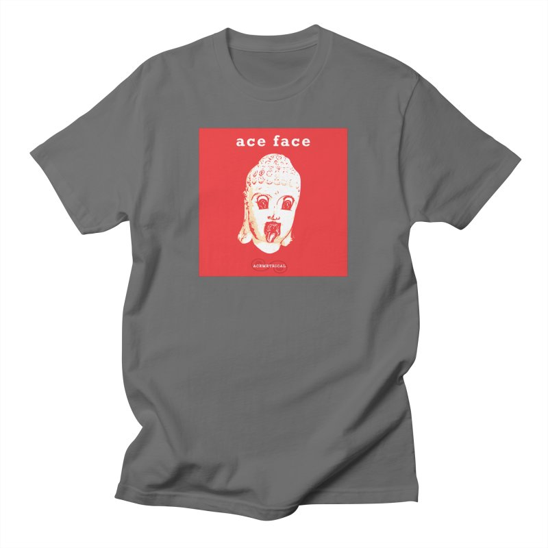 ACE FACE Buddha [REAL RED] ( / ) ACEMETRICAL Men's T-Shirt by ACEMETRICAL ( / ) Disc Golf