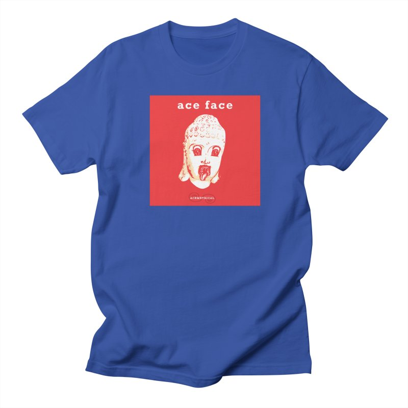 ACE FACE Buddha [REAL RED] ( / ) ACEMETRICAL Women's Regular Unisex T-Shirt by ACEMETRICAL ( / ) Disc Golf