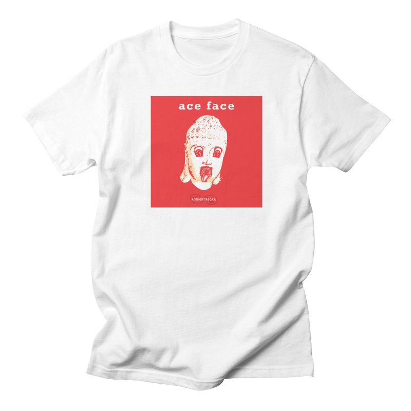 ACE FACE Buddha [REAL RED] ( / ) ACEMETRICAL Men's Regular T-Shirt by ACEMETRICAL ( / ) Disc Golf