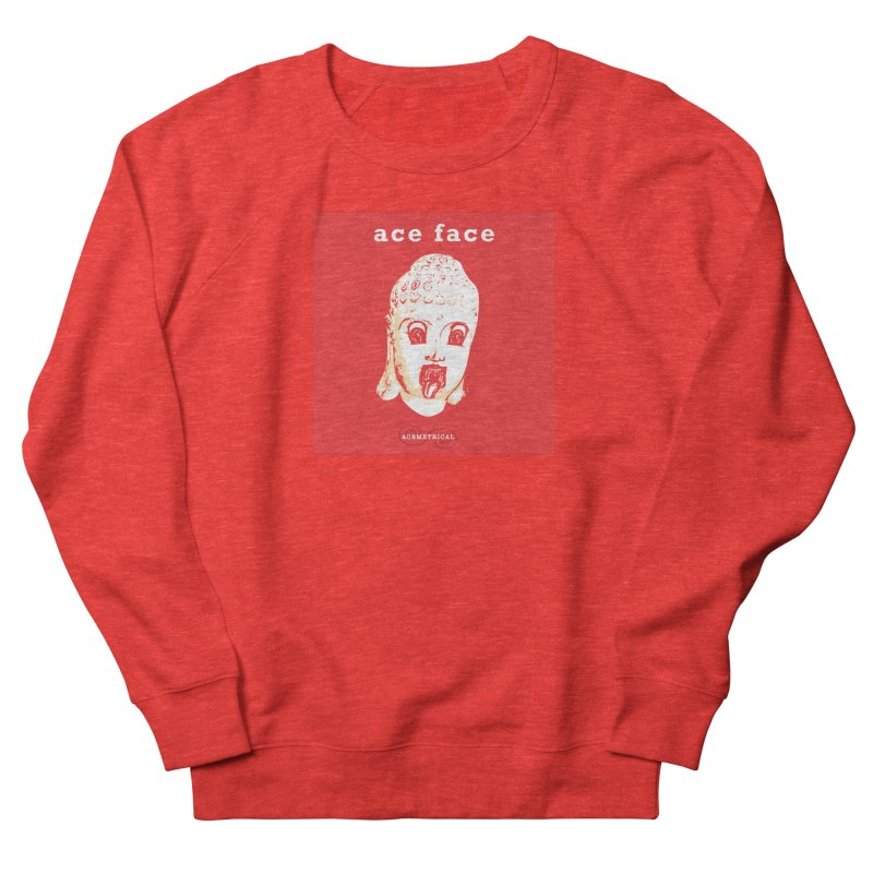 ACE FACE Buddha [REAL RED] ( / ) ACEMETRICAL Men's Sweatshirt by ACEMETRICAL ( / ) Disc Golf
