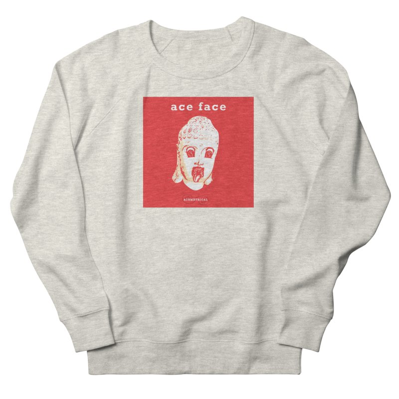 ACE FACE Buddha [REAL RED] ( / ) ACEMETRICAL Men's French Terry Sweatshirt by ACEMETRICAL ( / ) Disc Golf