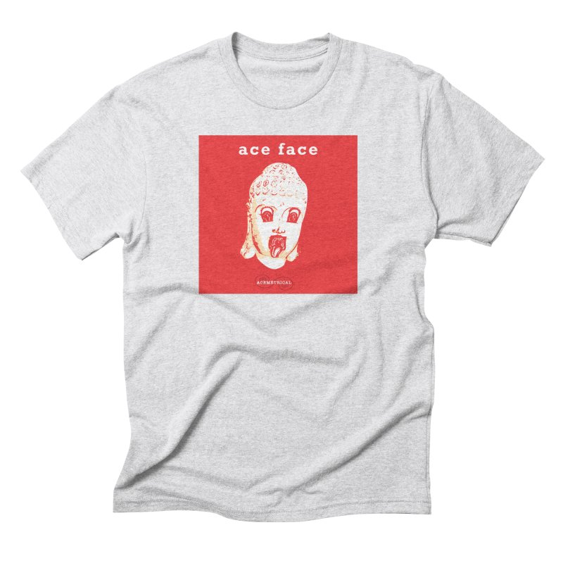 ACE FACE Buddha [REAL RED] ( / ) ACEMETRICAL Men's Triblend T-Shirt by ACEMETRICAL ( / ) Disc Golf
