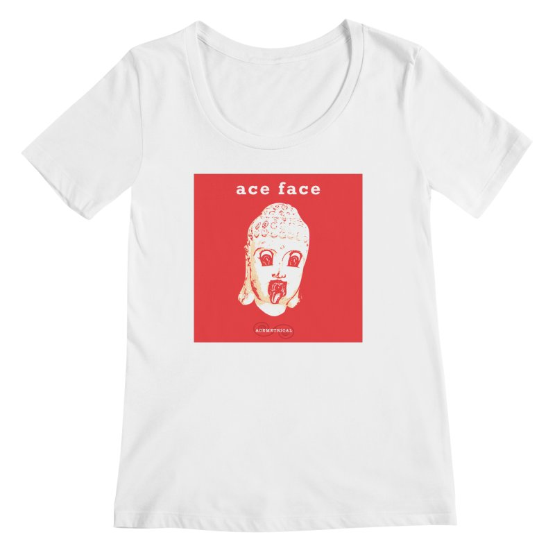 ACE FACE Buddha [REAL RED] ( / ) ACEMETRICAL Women's Regular Scoop Neck by ACEMETRICAL ( / ) Disc Golf