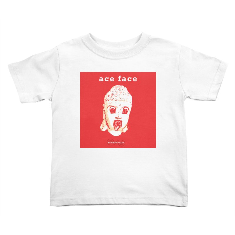 ACE FACE Buddha [REAL RED] ( / ) ACEMETRICAL Kids Toddler T-Shirt by ACEMETRICAL ( / ) Disc Golf