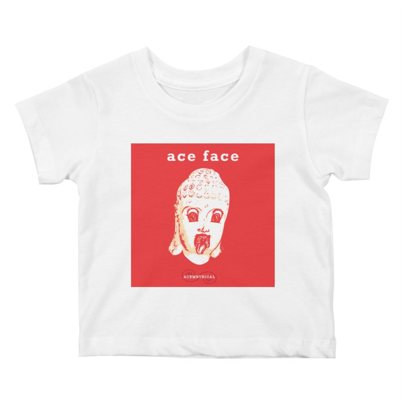 ACE FACE Buddha [REAL RED] ( / ) ACEMETRICAL Kids Baby T-Shirt by ACEMETRICAL ( / ) Disc Golf