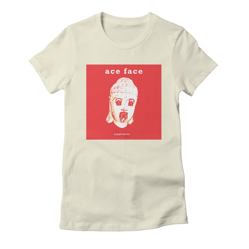 ACE FACE Buddha [REAL RED] ( / ) ACEMETRICAL Women's T-Shirt by ACEMETRICAL ( / ) Disc Golf