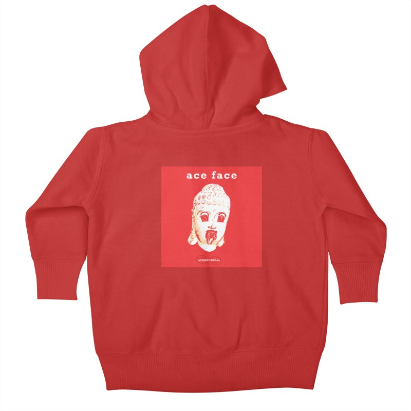 ACE FACE Buddha [REAL RED] ( / ) ACEMETRICAL Kids Baby Zip-Up Hoody by ACEMETRICAL ( / ) Disc Golf