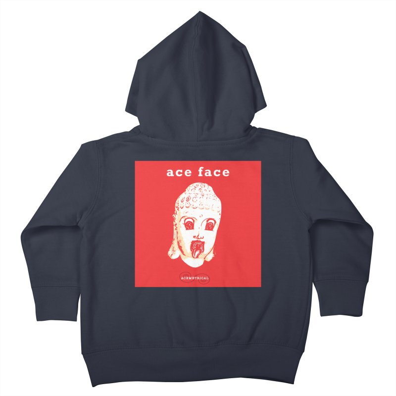 ACE FACE Buddha [REAL RED] ( / ) ACEMETRICAL Kids Toddler Zip-Up Hoody by ACEMETRICAL ( / ) Disc Golf